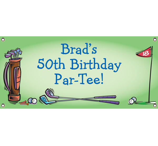 Golf Party Theme Banner