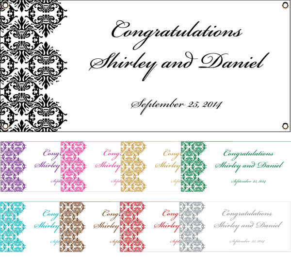 Classic Damask Theme Banner