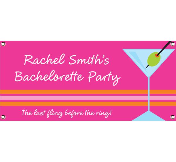 Bachelorette Martini Theme Banner
