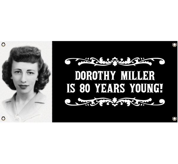 A Vintage Birthday Milestone Photo Theme Banner