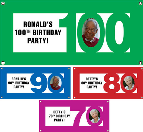 Birthday Photo Milestone Theme Banner