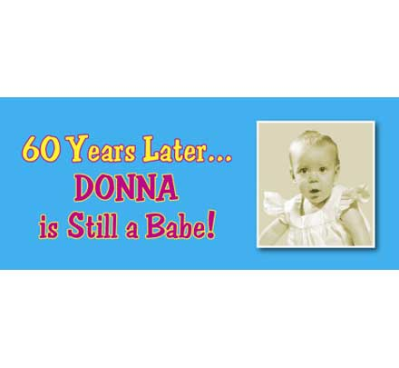 Birthday Babe Theme Photo Banner