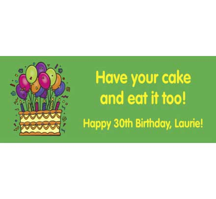 Cake on your Birthday Theme Banner