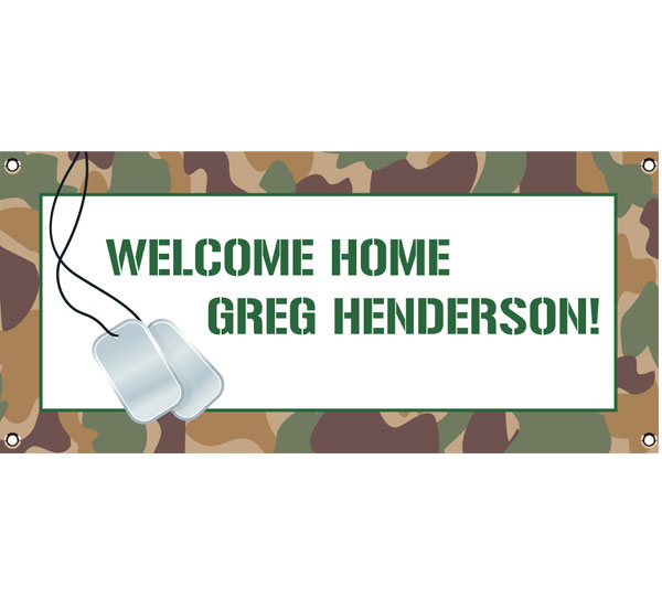 Camouflage Theme Banner