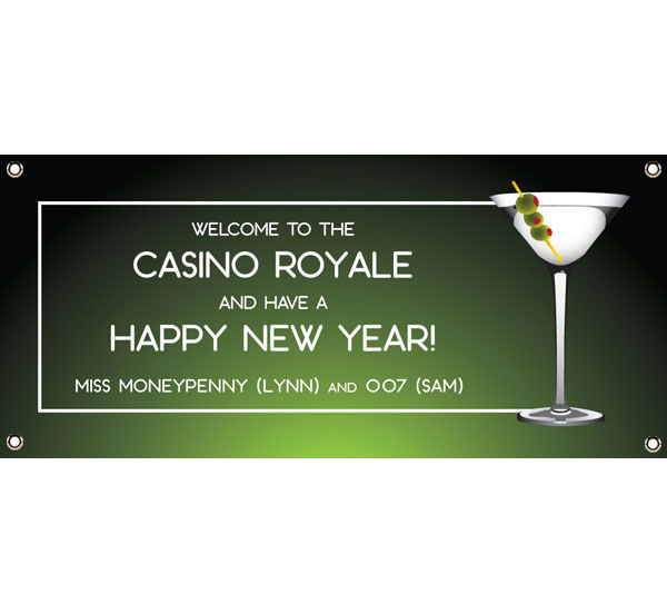 Casino Royale, Martini Theme Banner