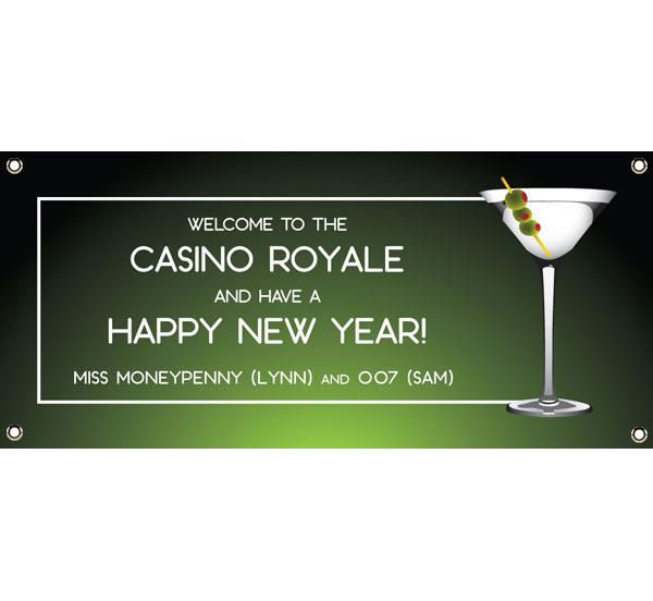 Casino Royale, Martini Theme Banner