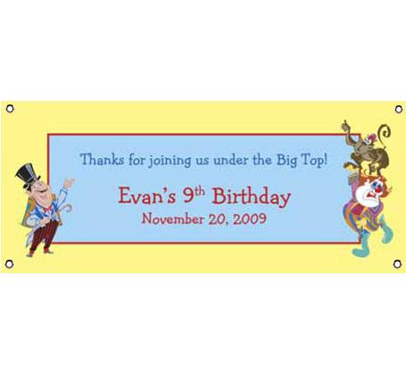 Birthday Banner Circus Theme