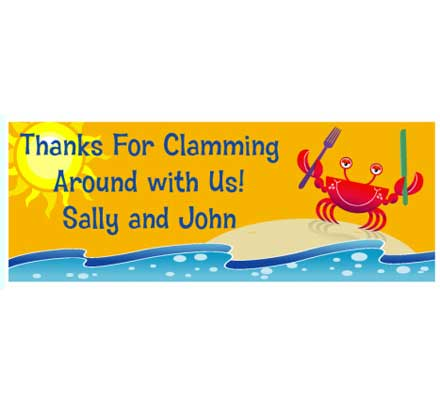 Crab and Clambake Theme Banner