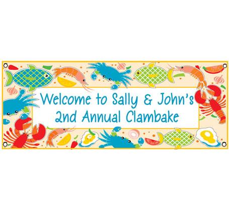 Seafood Theme Banner