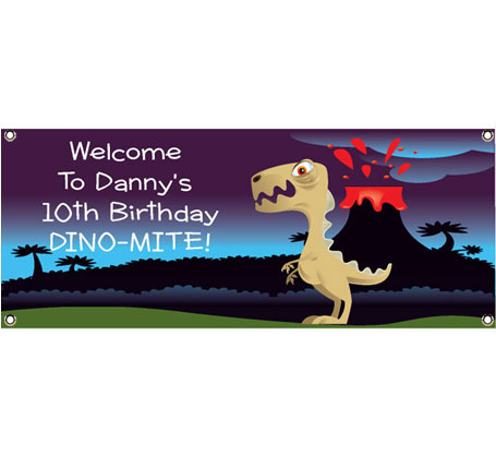 Dinosaur Theme Banner