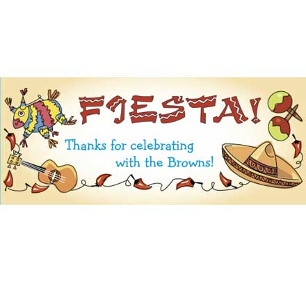 A Fiesta Theme Party Banner