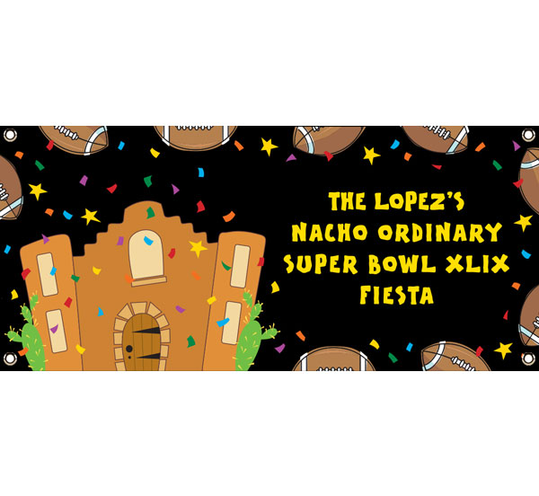 Super Bowl Fiesta Theme Banner