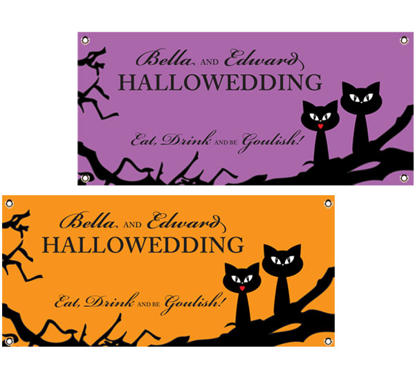 Halloween Wedding Theme Banner