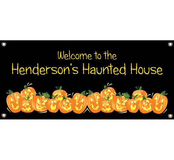 Halloween Fun Pumpkins Theme Banner