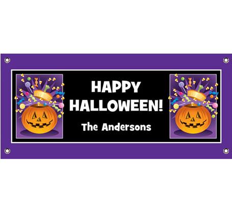 Halloween Pumpkin Fun Theme Banner
