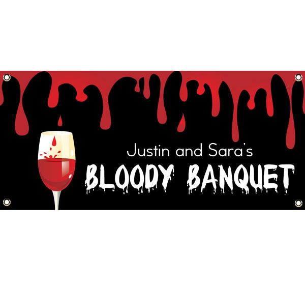 Halloween Bloody Banquet Theme Banner