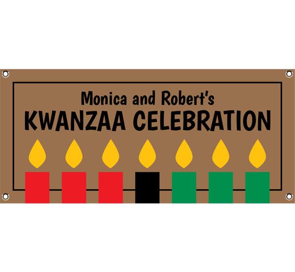 Kwanzaa Kinara Candles Theme Banner