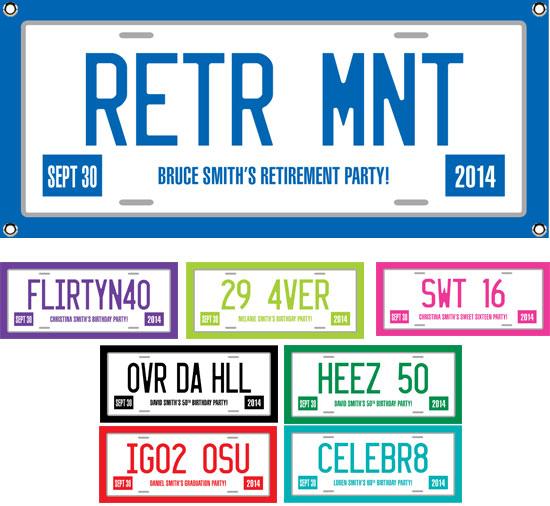 Retirement License Plate Theme Banner