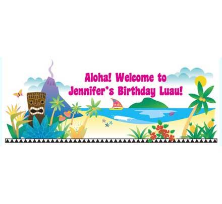 Luau Beach Theme Banner