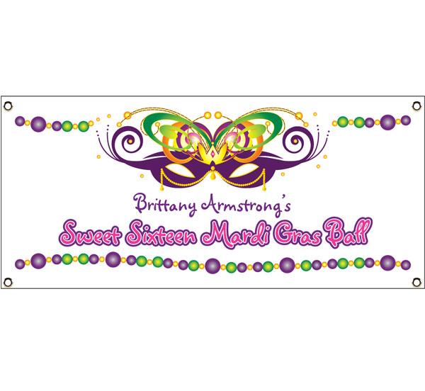 Mardi Gras Ball Theme Banner
