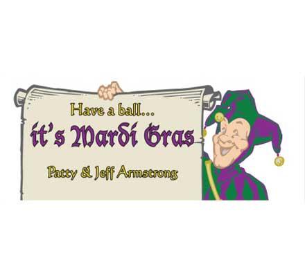 Mardi Gras Jester Theme Banner