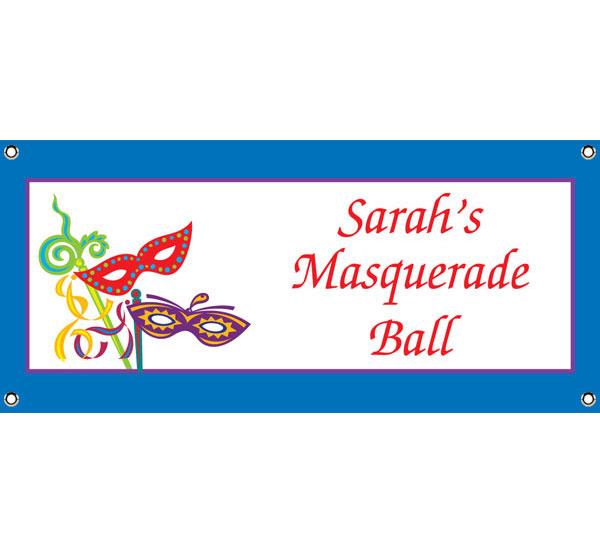 Mardi Gras Masquerade Masks Theme Banner