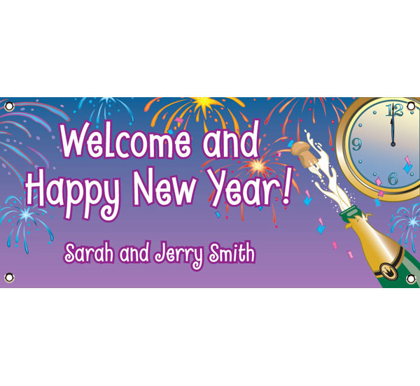 A New Year's Eve Toast Theme Banner