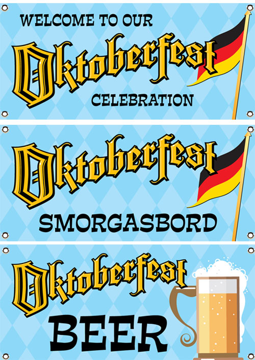 Oktoberfest Party Theme Banner Set