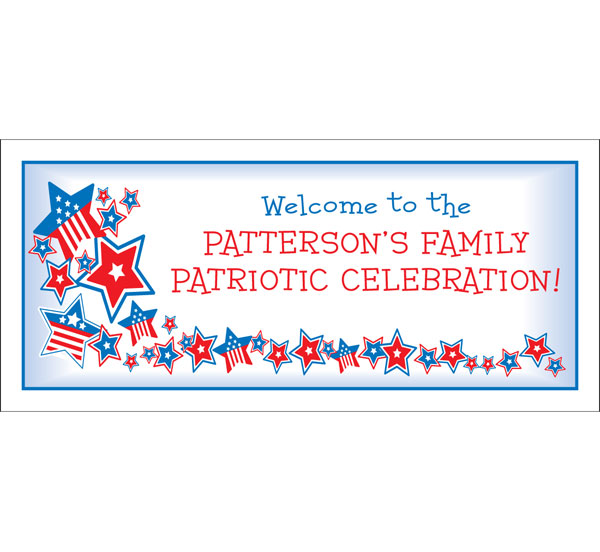 Patriotic Stars Theme Banner