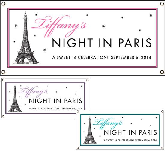 Paris Party Theme Banners
