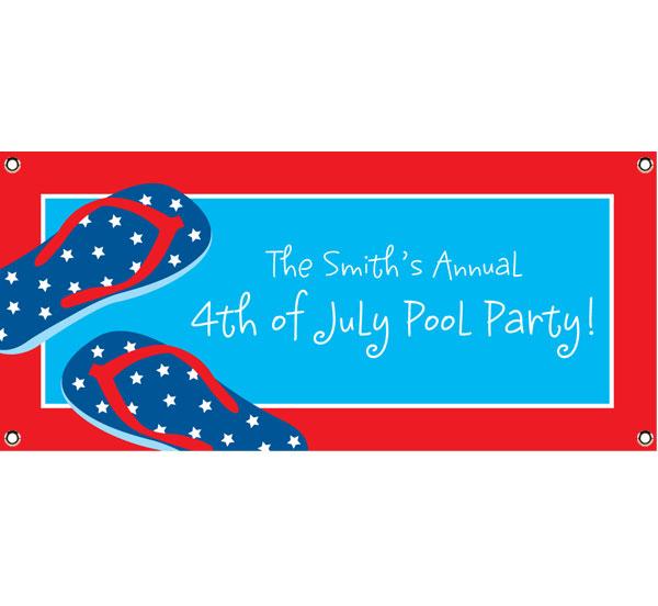 Patriotic Flip Flops Theme Banner