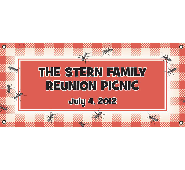 Backyard Picnic Theme Banner