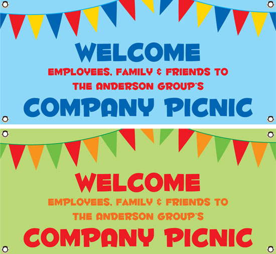 Picnic Theme Party Banner