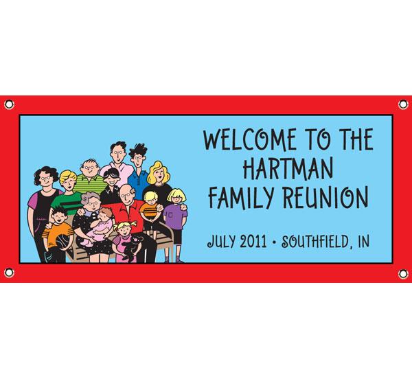 Family reunion newsletter samples hot girls wallpaper for Reunion banners design templates