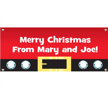 Christmas Santa Suit Theme Banner
