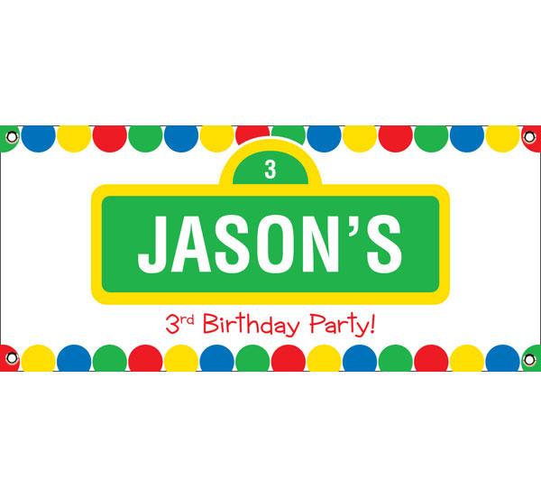 Birthday Sesame Street Theme Banner