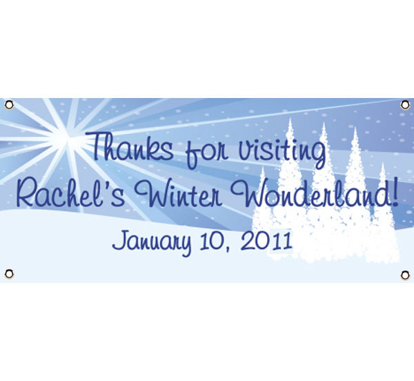 Winter Wonderland Theme Banner