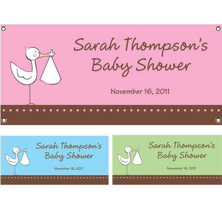 A Baby Stork Theme Banner