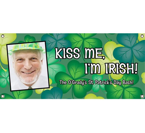 St. Patrick's Day Green Shamrocks Theme Banner