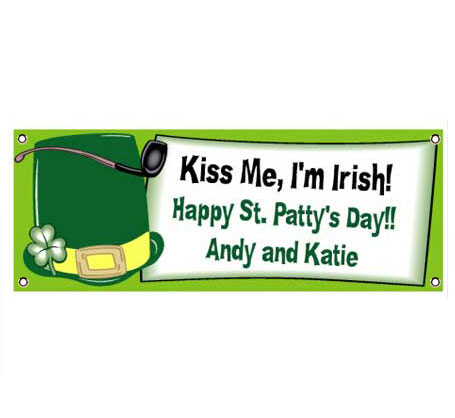 St. Patrick's Day Derby Theme Banner