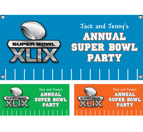 2015 Super Bowl XLIX Theme Banner