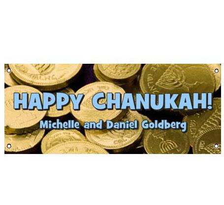 Chanukah Gelt Theme Banner