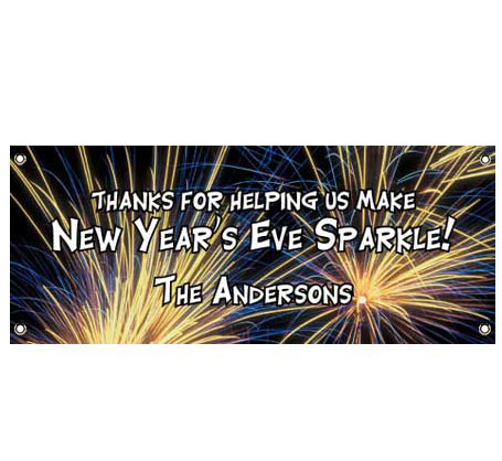 New Year's Eve Fireworks Theme Banner