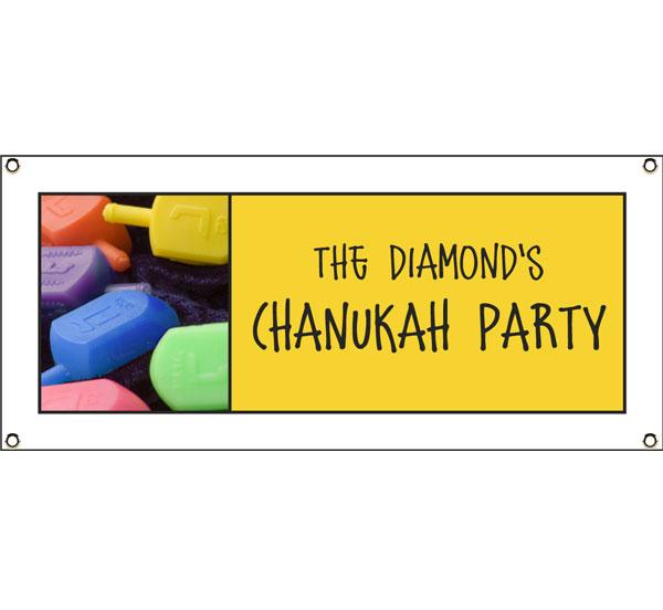 Chanukah Dreidel Theme Banner