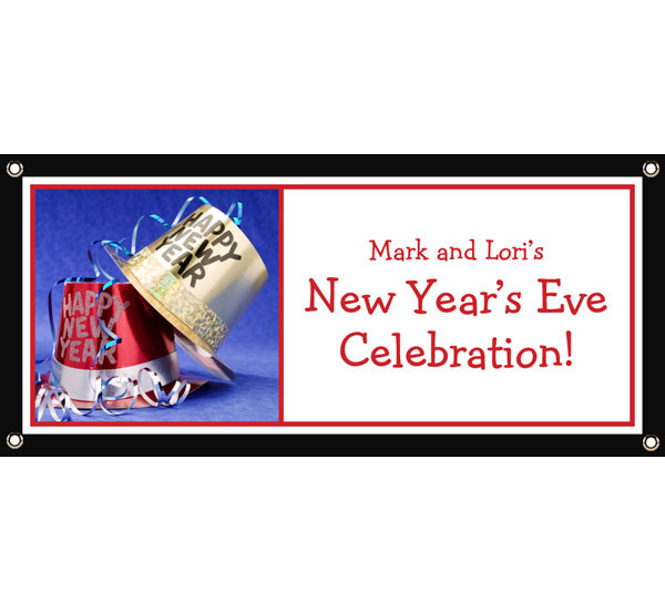 New Year's Eve Hats Banner