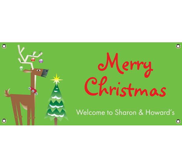 Christmas Reindeer Theme Banner
