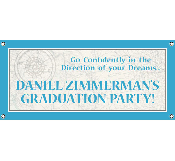 Graduation Travel Theme Banner