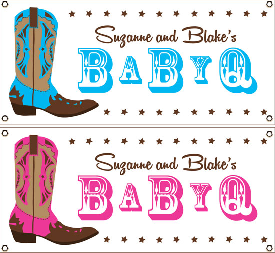 Western Baby Shower Theme Banner