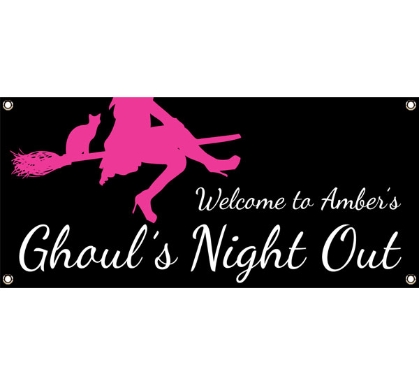 Ghoul's Night Out Halloween Party Theme Banner