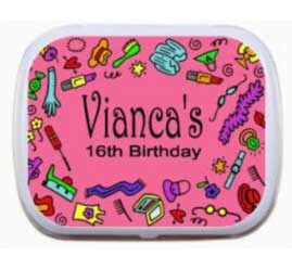 Sweet 16 Birthday Mint Tin, Fashion Fun